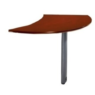 Mayline Napoli Curved Desk Left Extension for use with Desks. sold separately
