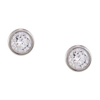 Icz Stonez Sterling Silver 5-mm Cubic Zirconia Stud Earrings