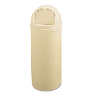 Rubbermaid Commercial 25GL Round Beige Marshal Classic Container