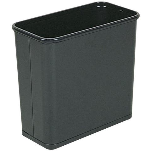 Rubbermaid Commercial Fire-safe Black 7.5-gallon Steel Rectangular Waste Receptacle