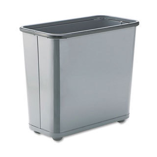 Rubbermaid Commercial Fire-safe Grey 7.5-gallon Steel Rectangular Waste Receptacle