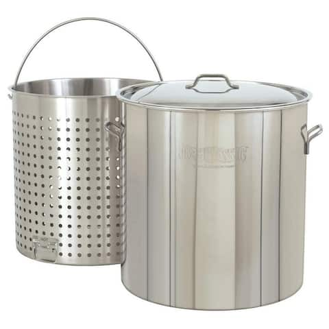 Bayou Classic 82-Qt. Stockpot with Lid and Basket