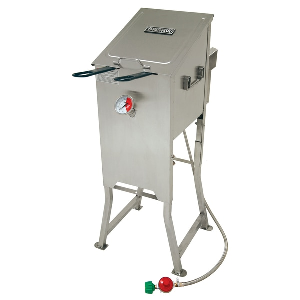 Bayou Classic 4 gal. Bayou Fryer with 2 Stainless Steel Baskets. Opens flyout.
