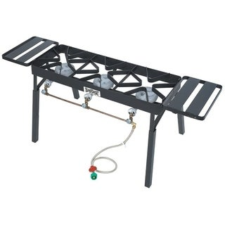 Bayou Classic Triple Fry Burner with Legs and