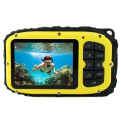 Coleman Xtreme 12MP Waterproof Yellow Digital Camera - Thumbnail 1