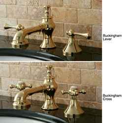 French Country Widespread Polished Brass Bathroom Faucet - Thumbnail 1