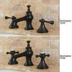 French Country Widespread Oil -rubbed Bronze Bathroom Faucet