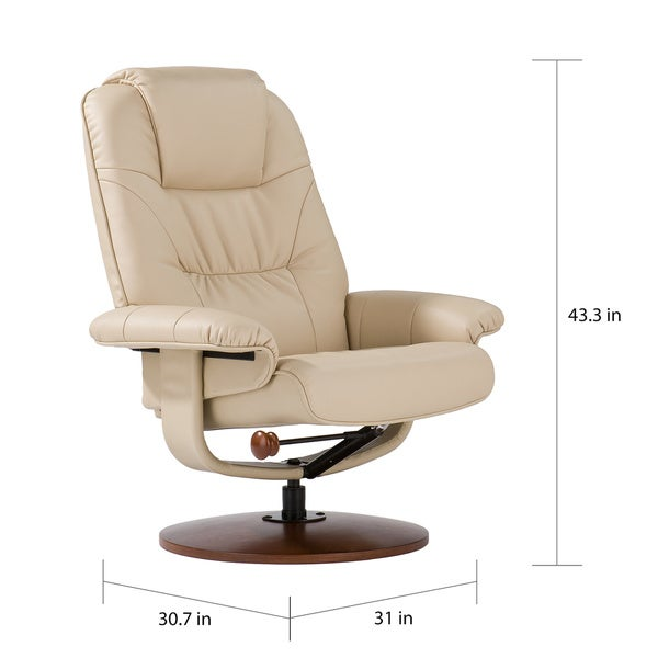 harper blvd gramercy taupe leather recliner and ottoman free shipping today