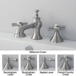 bathroom facuets french country widespread satin nickel bathroom faucet p13546342