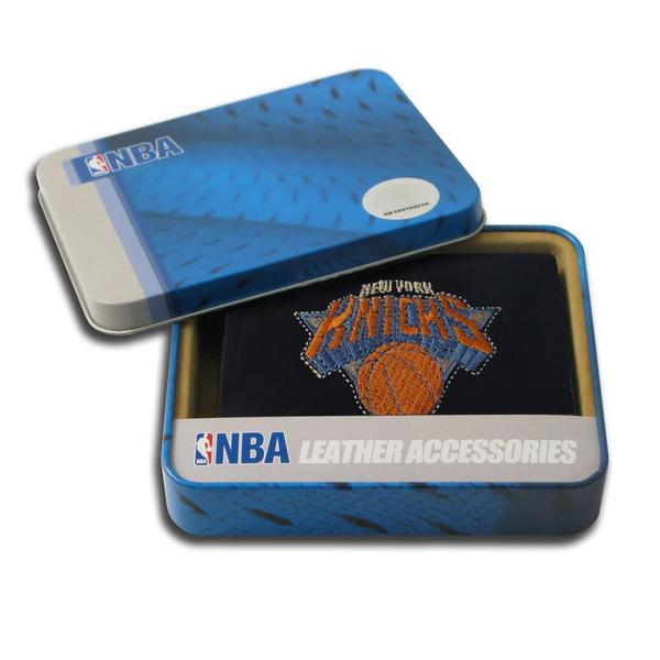 New York Knicks Men's Black Leather Tri-fold Wallet