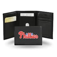 Philadelphia Phillies Men's Black Leather Tri-fold Wallet
