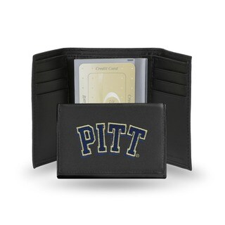 Pittsburgh Panthers Men's Black Leather Tri-fold Wallet