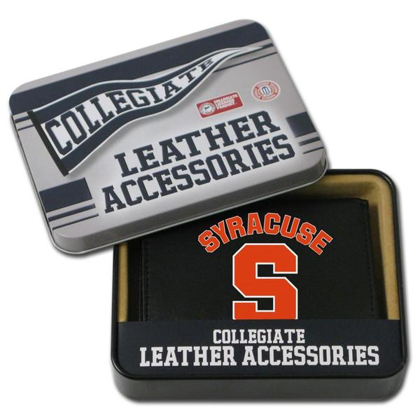 Syracuse Orangemen Men's Black Leather Tri-fold Wallet