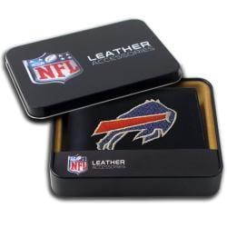 Buffalo Bills Men's Black Leather Bi-fold Wallet
