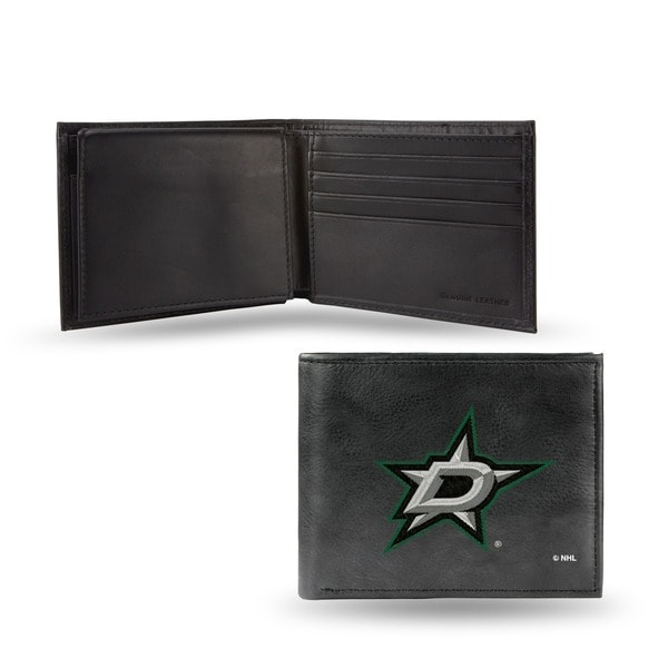 Dallas Stars Men's Black Leather Bi-fold Wallet