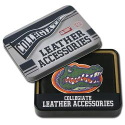 Florida Gators Men's Black Leather Bi-fold Wallet