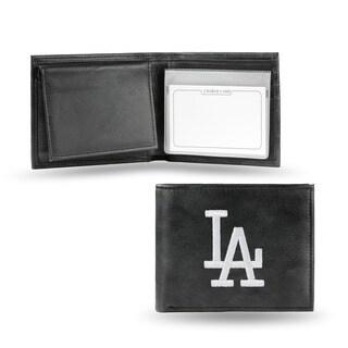 Los Angeles Dodgers Men's Black Leather Bi-fold Wallet