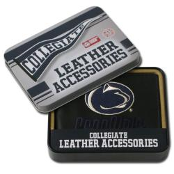 Penn State Nittany Lions Men's Black Leather Bi-fold Wallet - Thumbnail 0