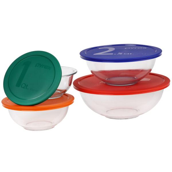 Pyrex Smart Essentials 8 Piece Bowl Set