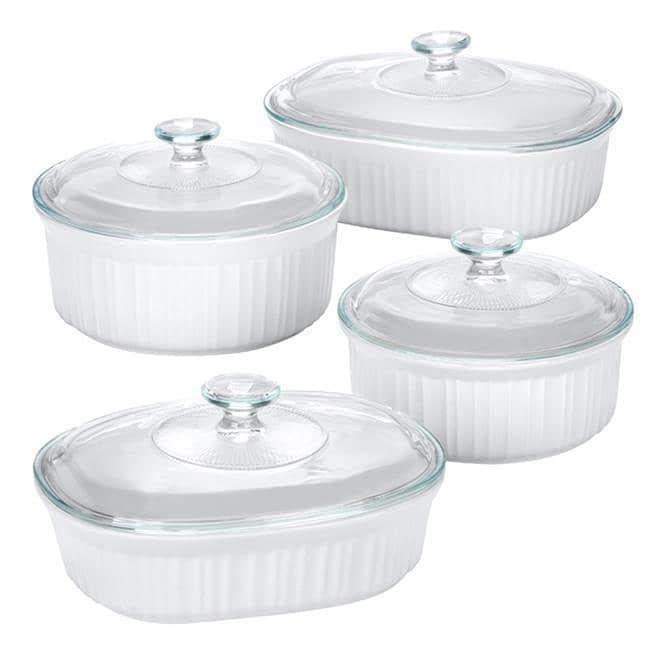 Corningware French White 8-Piece Set