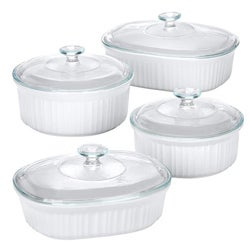 Shop Corningware French White 8 Piece Set Free Shipping