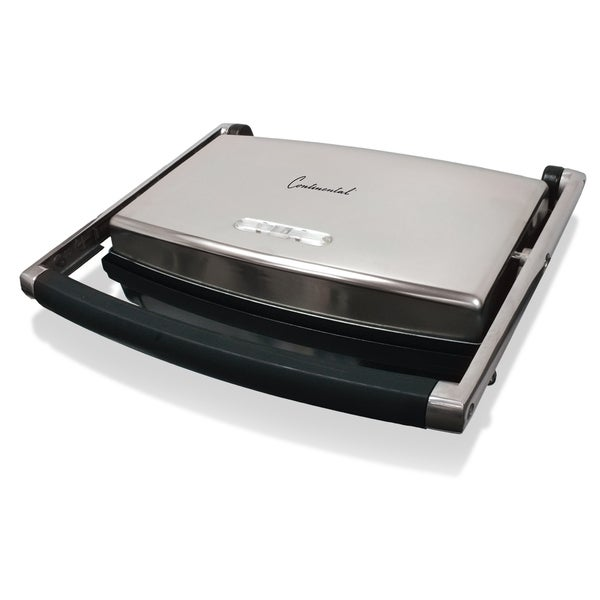 Continental Electric 2-Slice Panini Grill Non-Stick Black. Opens flyout.