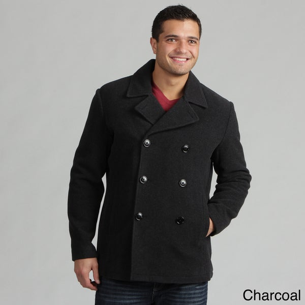 Kenneth Cole Reaction Men's Wool Blend Peacoat