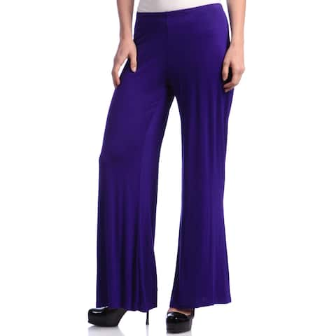 24/7 Comfort Apparel Women's Palazzo Wide-leg Pants