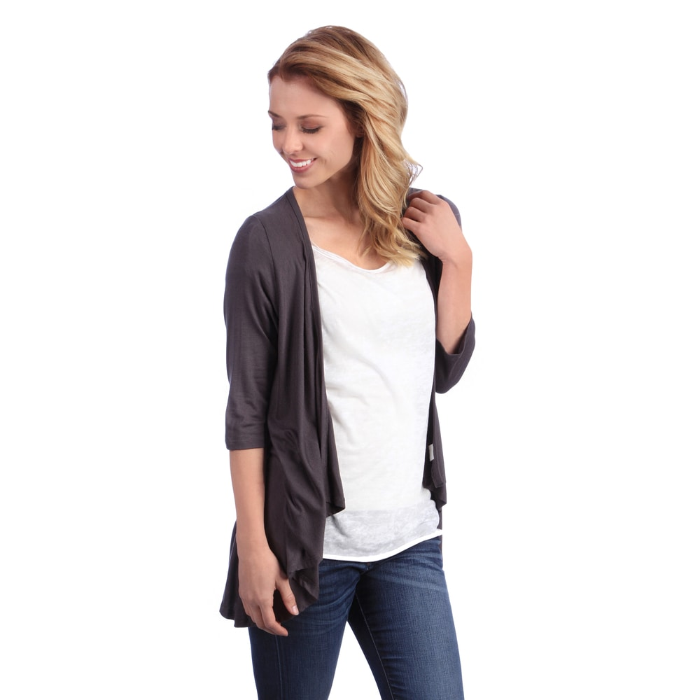 24/7 Comfort Apparel Womens 3/4-sleeve Open Shrug by  Design