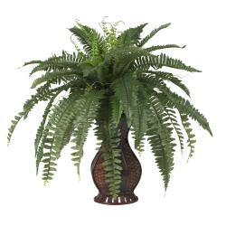 Silk 28-inch Potted Boston Fern - Thumbnail 1