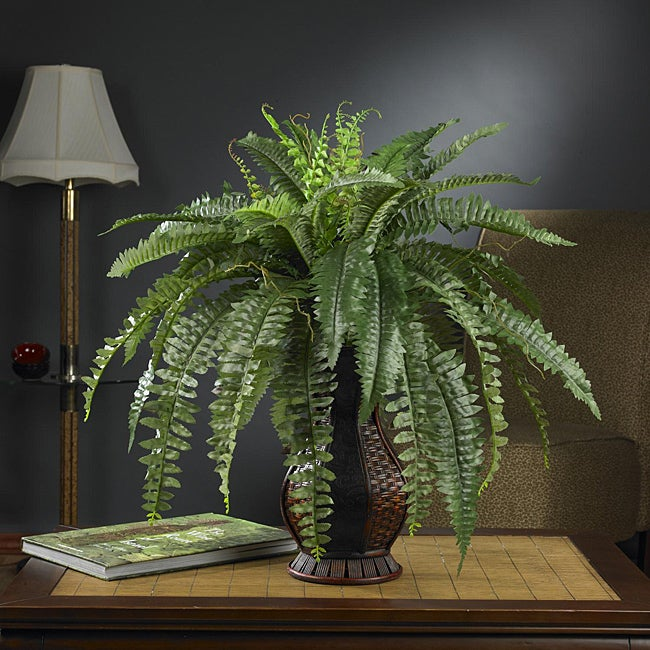 Silk 28-inch Potted Boston Fern - Thumbnail 0