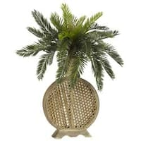 Silk 25-inch Potted Cycas Plant