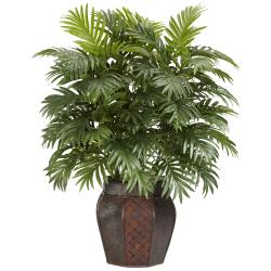 Silk 38-inch Potted Areca Palm Plant - Thumbnail 0