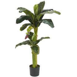 Silk 5-foot Potted Banana Tree