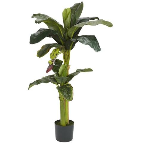 Silk 5-foot Potted Banana Tree