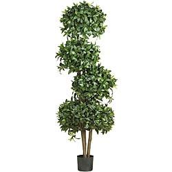 Sweet Bay Topiary 69-inch 4-ball Silk Tree