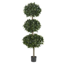 Sweet Bay Topiary 69-inch Triple Ball Silk Tree