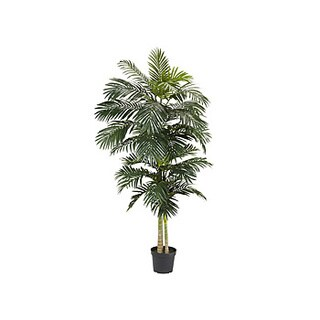 Nearly Natrual Golden Cane Palm 8-foot Silk Tree