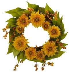 Golden Sunflower Wreath - Thumbnail 1
