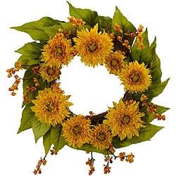 Golden Sunflower Wreath - Thumbnail 0