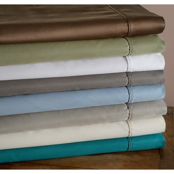 Superior Cotton Blend 600 Thread Count Sateen Solid Wrinkle-resistant Deep Pocket Sheet Set