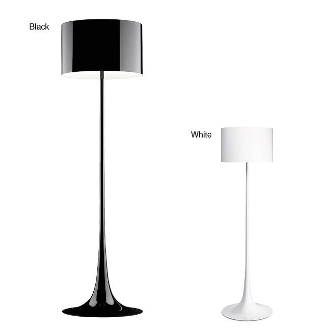 Tulip Black/ White Floor Lamp