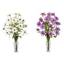 Silk 27-inch Cosmos Flower Arrangement