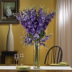 Silk 38-inch Delphinium Flower Arrangement