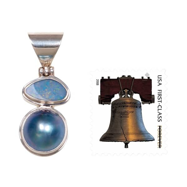 Shop Handmade Sterling Silver 'Eclipse of Blue' Pearl