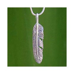 Handmade Sterling Silver Flight Foxtail Pendant Necklace (Thailand)