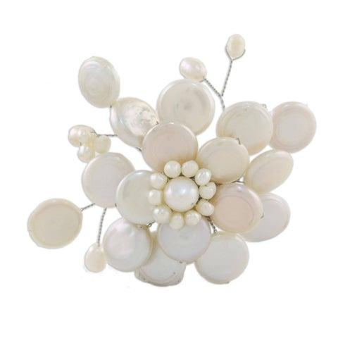 Pearl 'Morning Chrysanthemum' Brooch (4-15 mm) (Thailand)
