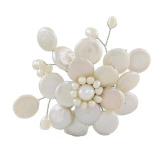 Pearl 'Morning Chrysanthemum' Brooch (4-15 mm) (Thailand)