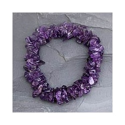 Handmade Purple Amethyst Lilac Muse Stretch Bracelet (India)
