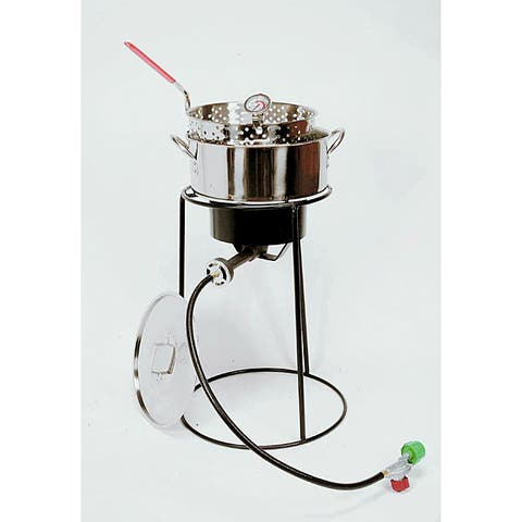 King Kooker 20-inch Outdoor Cooker with a Stainless Steel Fry Pan